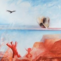 Señoras mágicos de Peña Blanca, 2013, OIL ON CANVAS 54 x 48 Inches