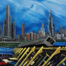 Urbanismo, 2011, OIL ON CANVAS, 40 X 60 INCHES