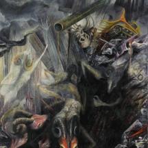 Danza of the efecto urbano II, 1996, OIL AND GRAPHITE ON CANVAS, 96 x 70 INCHES