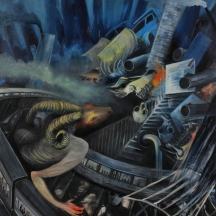 I am a ram, 2014, OIL ON CANVAS, 60 x 50 INCHES