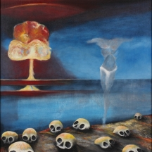 Remembering Hiroshima, 2010, OIL ON CANVAS, 30 x 26 INCHES