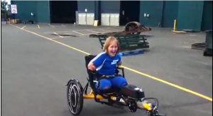 watch Charlotte on her new bike!