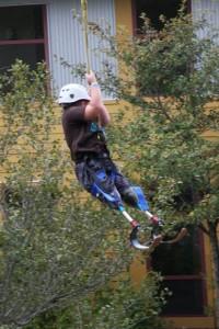 camp no limits child on ripline