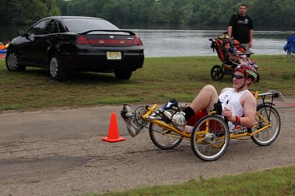 Lincoln Park Triathlon 2013 - bike leg of race - Team Sunshine member - Sunshine Prosthetics and Orthotics, Wayne NJ