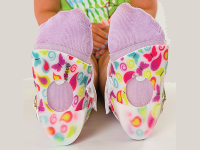 Sure Step dynamic stabilizing system for controlling foot and ankle pronation in children with low tone-customized at Sunshine Prosthetics and Orthotics in Wayne NJ