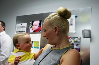 Brooke Artesi and son Nicco at Grand Opening of Sunshine Prosthetics and Orthotics in Wayne NJ 2013