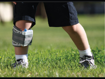 Child playing while wearing WalkAide Foot Drop system - available at Sunshine Pediatrics and Orthotics in northern NJ