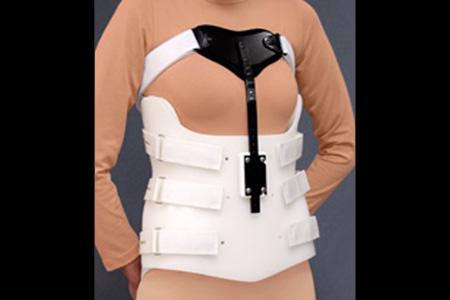 Spinal Technology TLSO Bivalve orthosis with Sternal Shield  - available through Sunshine Prosthetics and Orthotics, Wayne NJ