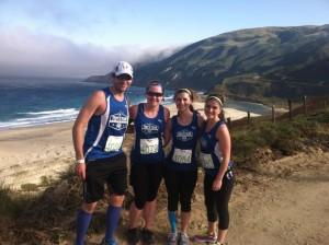 At the Big Sur Marathon in California