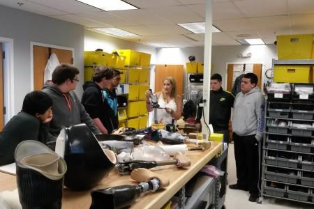 Brooke Artesi speaking about prosthetics fabrication