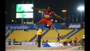 Regas Woods Long Jump at US Paralympic Team tryouts