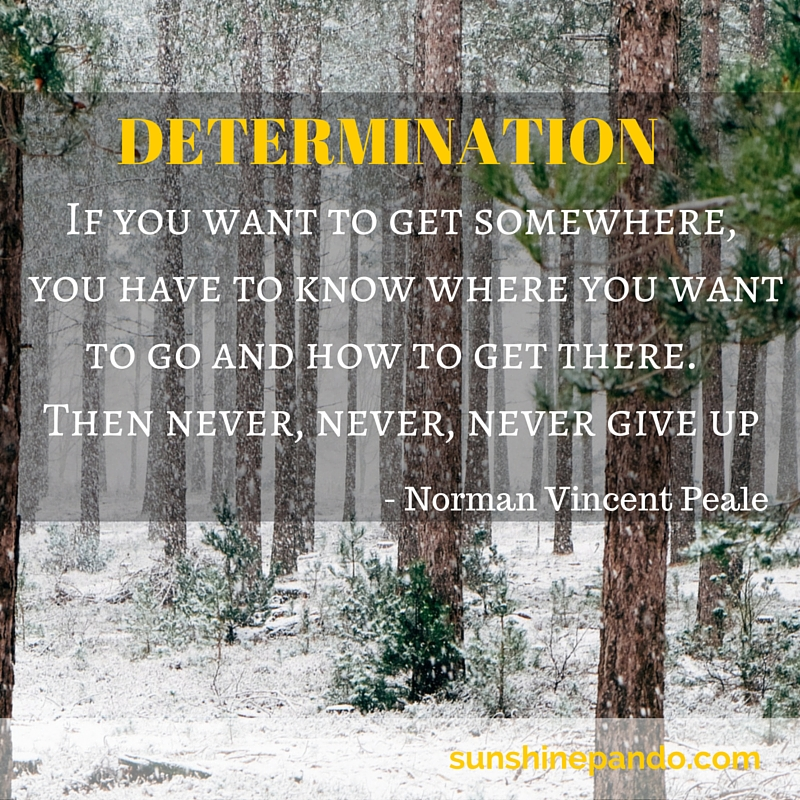 Know where you want to go and how to get there and never never give up - Sunshine Prosthetics and Orthotics