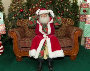 Raymond Beesley wearing his Victorian Santa suit (photo: Steve Hockstein)
