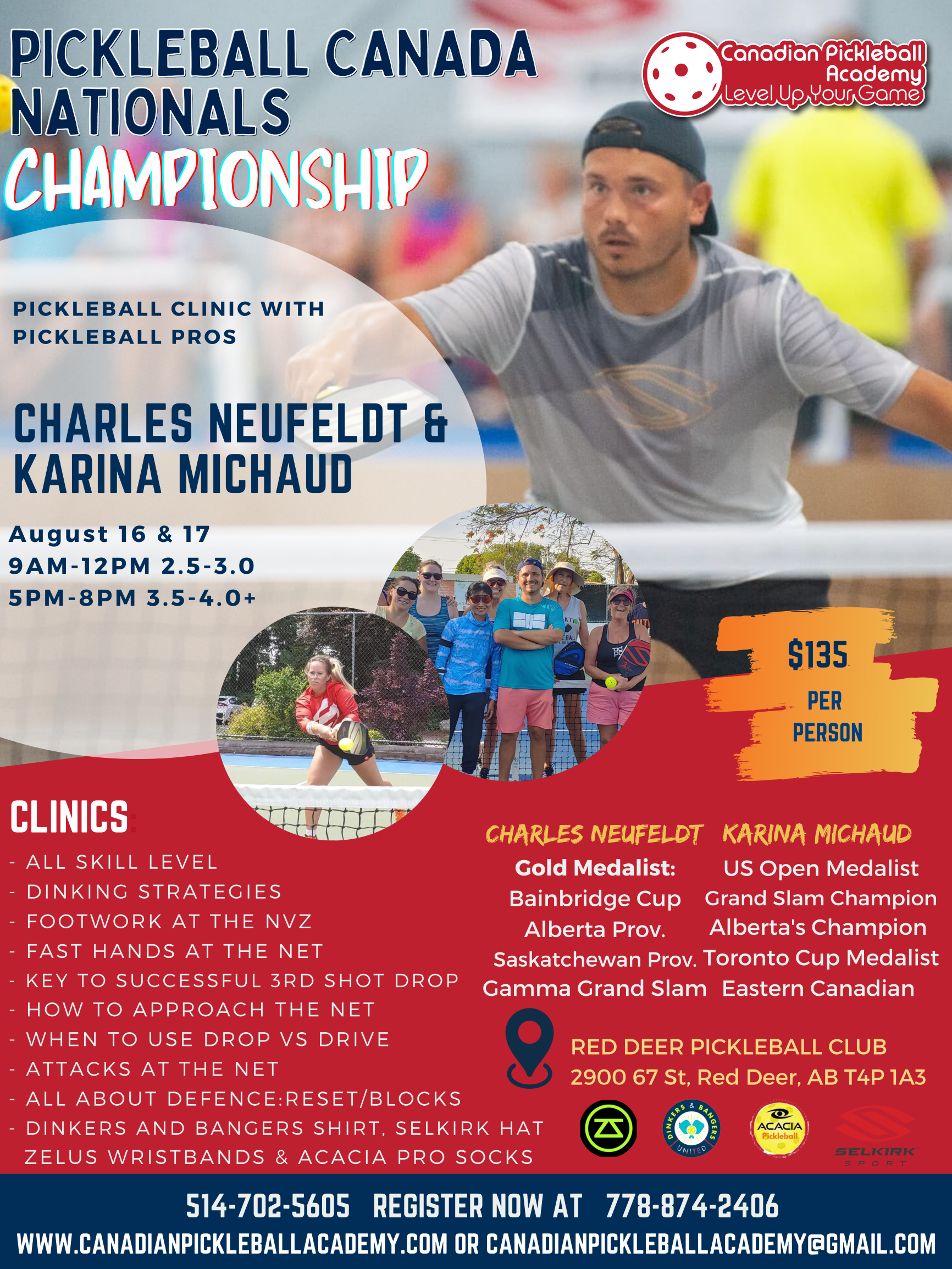 Canadian Nationals Pickleball Clinic (Aug 16th-17th)