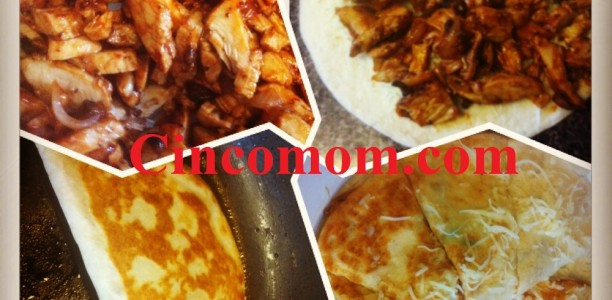 Dinner Delight! Barbecue Portobello Chicken Quesadilla