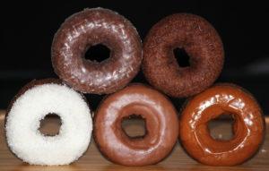 Chocolate Cake Ring Donuts