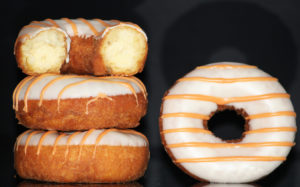 Peach Ring Cake Donuts