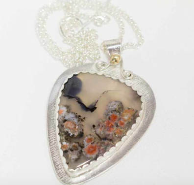 floral plume agate