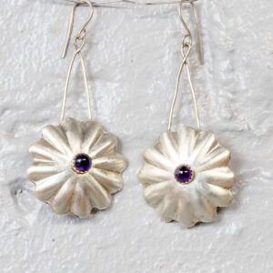 Flower Amethyst Earrings