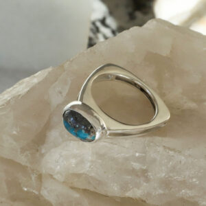 Modern Chrysocolla Ring