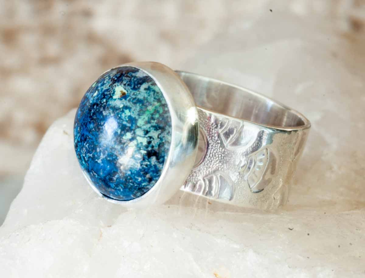 Blue Chrysocolla Ring