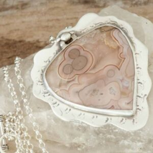 Pink Turkish Agate Pendant