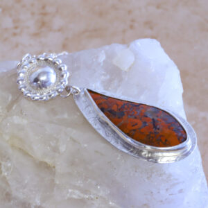 Red Brecciated Jasper Pendant