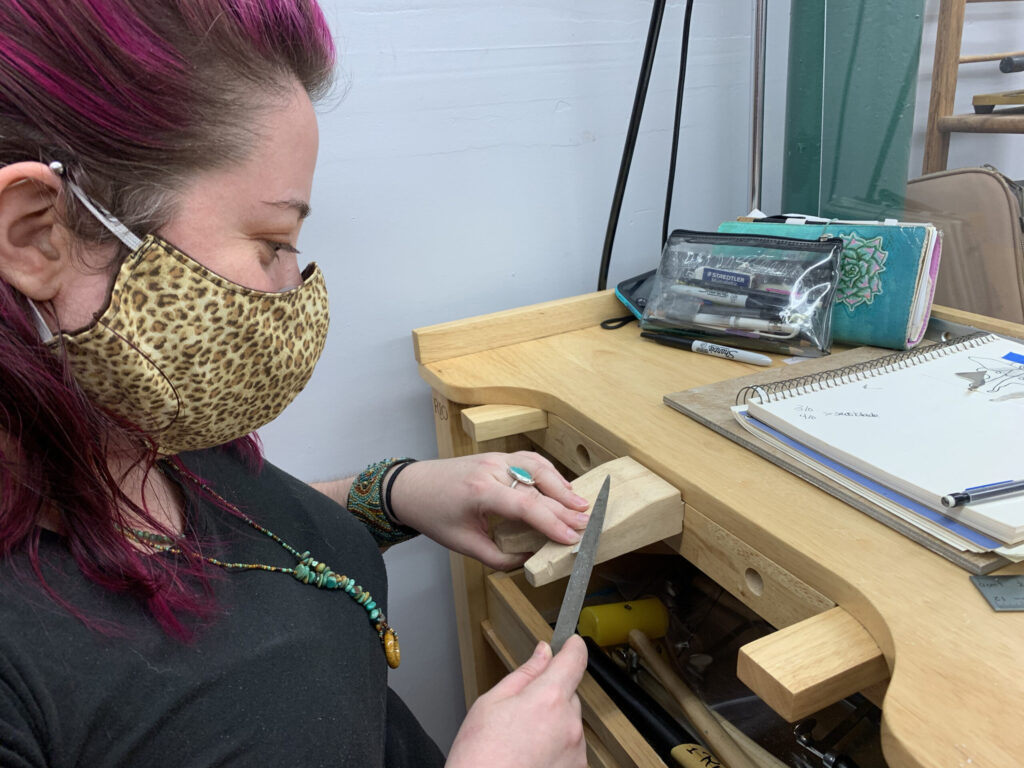 Students in Metalsmithing