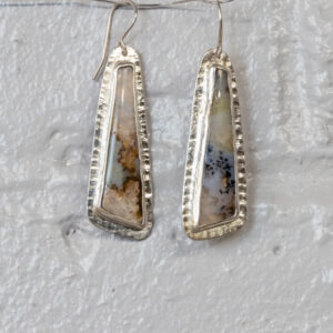 Dendritic Agate Sterling Silver Earrings