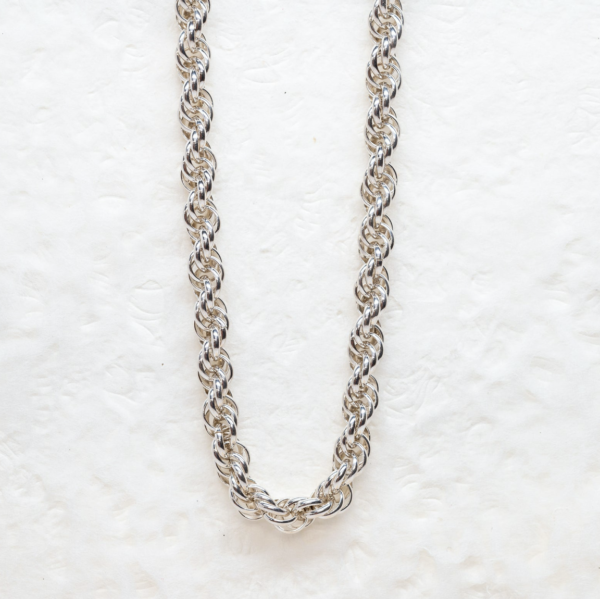 Sterling Silver Rope Chain, Handmade