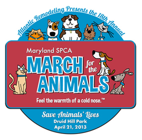 MDSPCA March for the Animals t-shirt design
