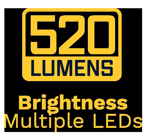 Brightness 520 Lumens Multiple LEDs
