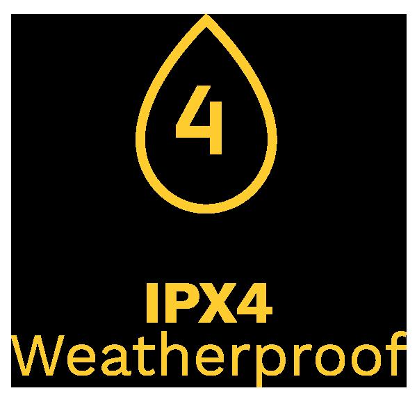 IPX4 Weatherproof