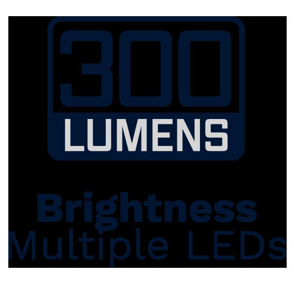 300 lumens