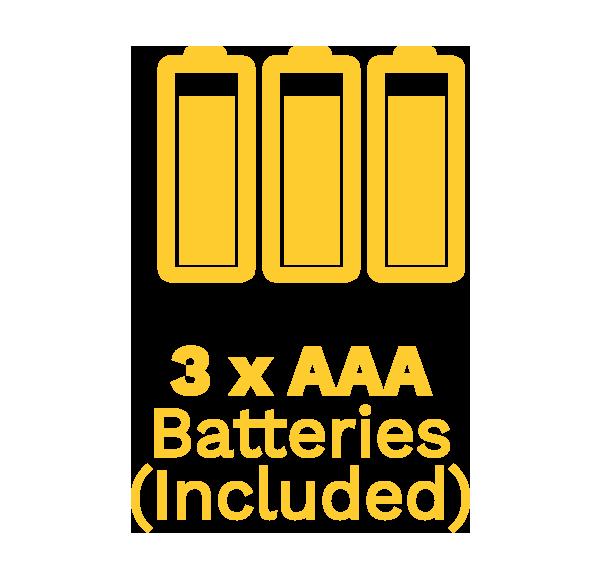 3x batteries