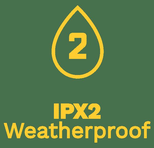 IPX2 Weatherproof