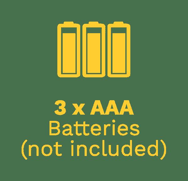 3x AAA Batteries