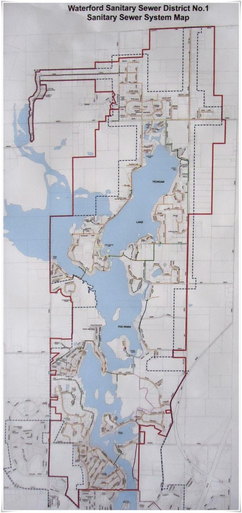 Waterford Sanitary District #1 Area Map
