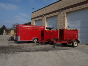 Waterford Sanitary District emergency trailers