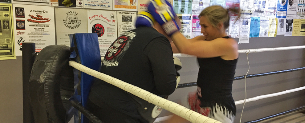 Kickboxing and Muay Thai Boxing helps with confidence.