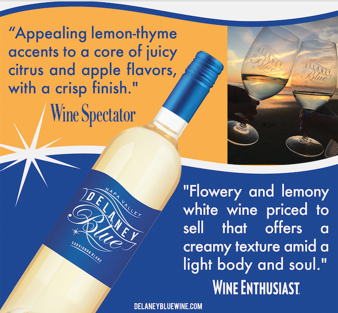 New Accolades For Delaney Blue from Wine Enthusiast and Wine Spectator Magazines