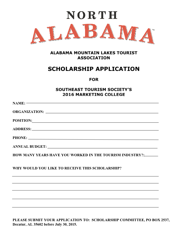 Marketing Scholarship Form Now Available to Download!