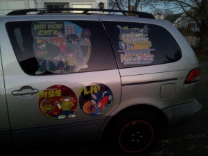 This is how I roll out daily. If you don't believe in your product , why should anyone else. When children see the HIP HOP CATZ van they look at it like the characters are going to move or as if it's a cartoon.