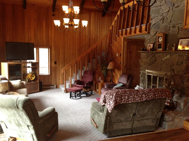 Living Room – Stairs to upper level