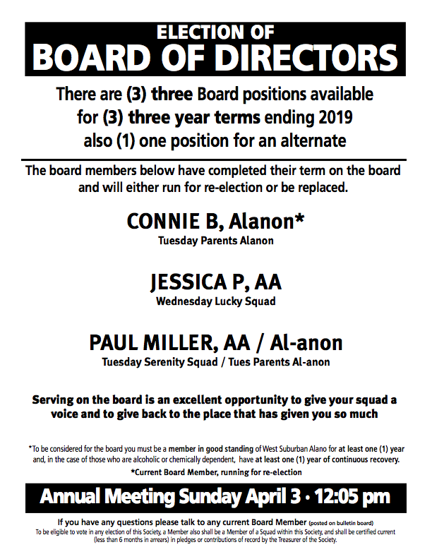 2016 Board of Directors Election
