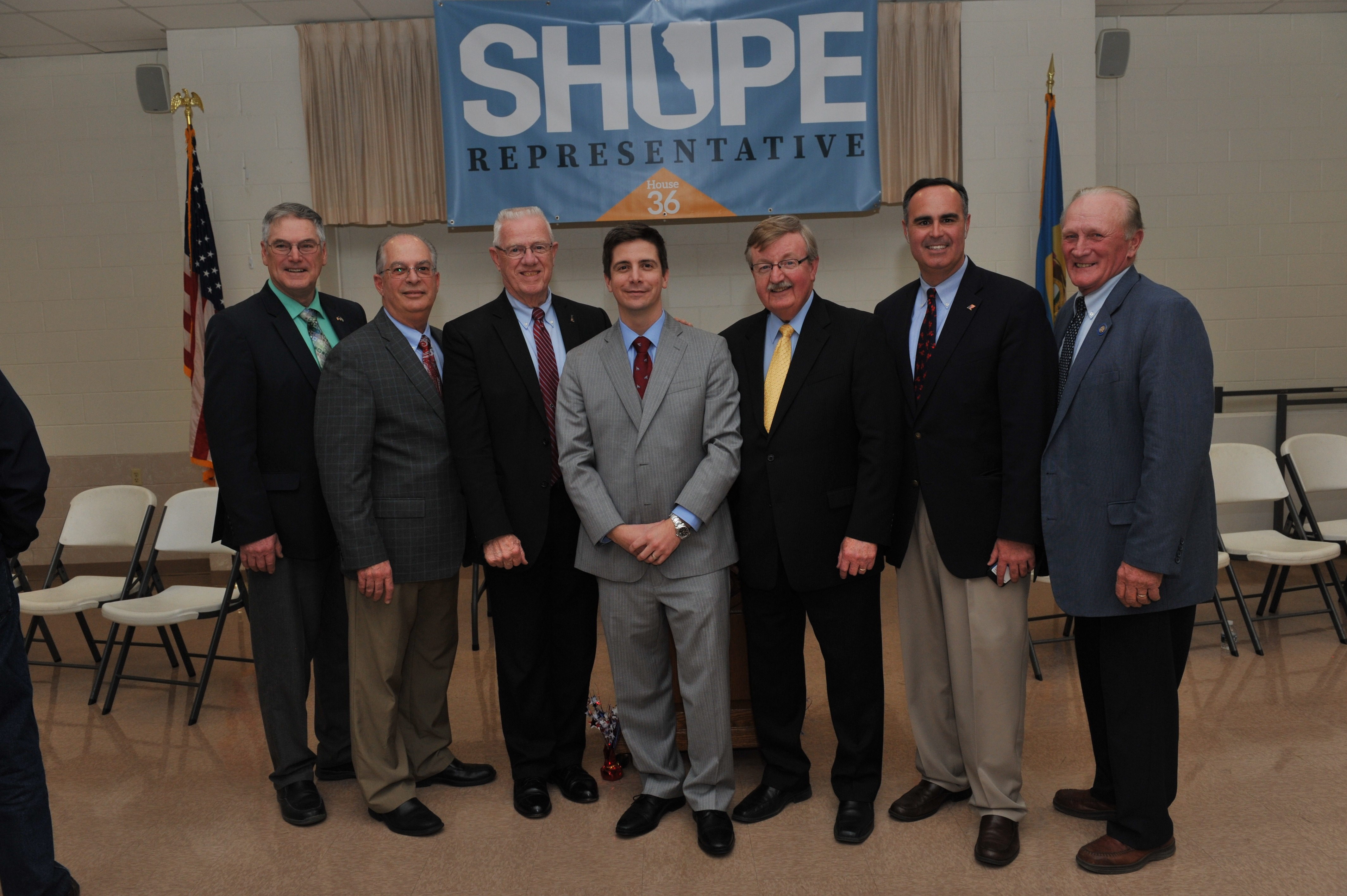 Shupe kickoff event with local elected officials.