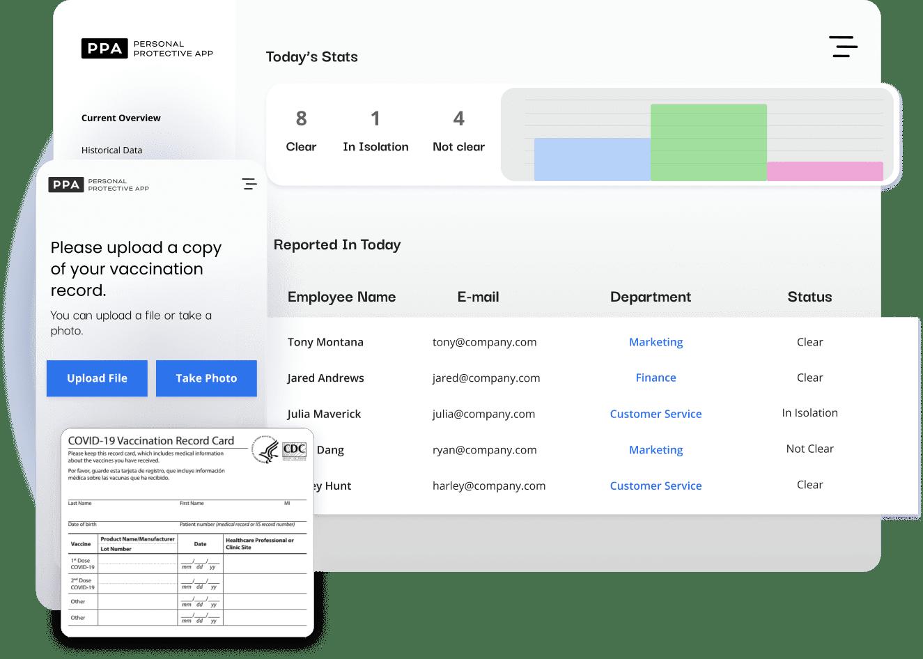 covid-19 employee screening app