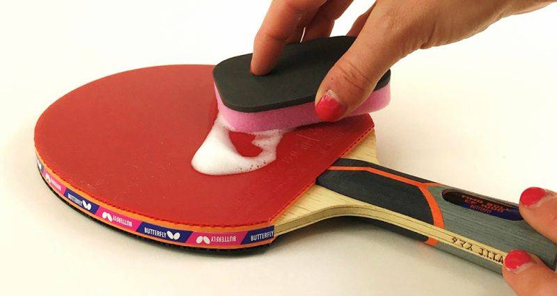 How to clean table tennis rubbers