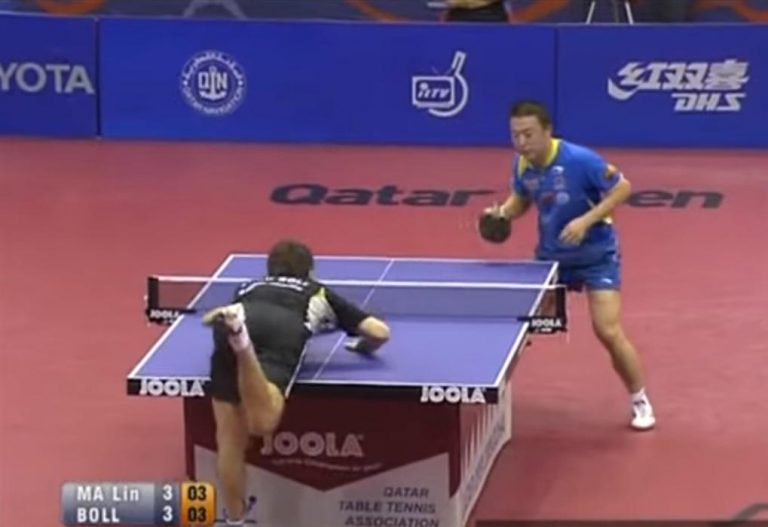 Can you touch the table in table tennis