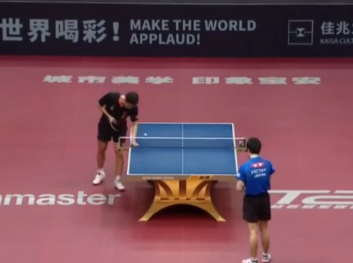 Why do table tennis players touch the table